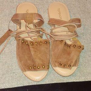 Topshop - Hope Studded tie-strap Sandals sz 7.5